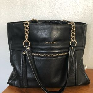 Cole Haan black leather bag